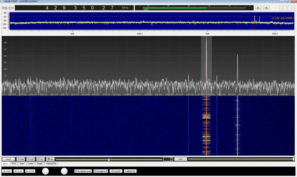 Copie d'écran gkSDR