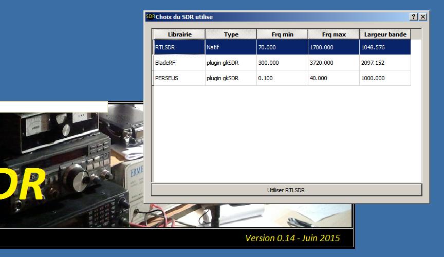 gkSDR select hardware